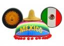 "Epcot ""World Showcase"" Mexico Mickey Mouse Ears"